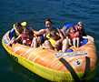 tubing in a towable